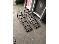 Pair Of old steel car ramps £10