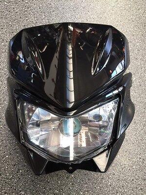 Kawasaki KLX125 - D-Tracker Scheinwerfer mit Maske Schwarz für Streetfighter -6C