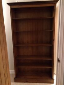 Marks and Spencer antique pine wood bookshelf