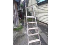 Vintage wooden stepladder (antique, vintage, shabby chic)