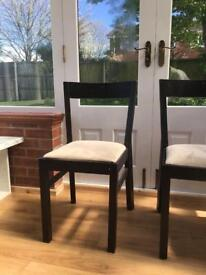 Pair of Dark brown wooden chairs