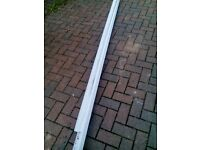 White osma half round guttering, 2 lengths new as surplus, lengths sold as 1 lot