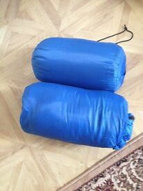 2 single sleeping bag warm inside waterproof outside