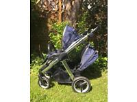 **REDUCED** Fab Condition Babystyle Oyster Max 2 Single to Double Pushchair Buggy
