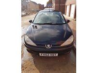 Peugeot 206 - Black for sale - £700
