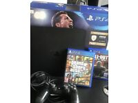 PlayStation 4 PS4 1TB with GTA 5 and Black Ops 3 and 1 controller. Boxed