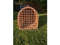 Whicker cat carry basket £5