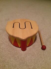 John Lewis wooden drum