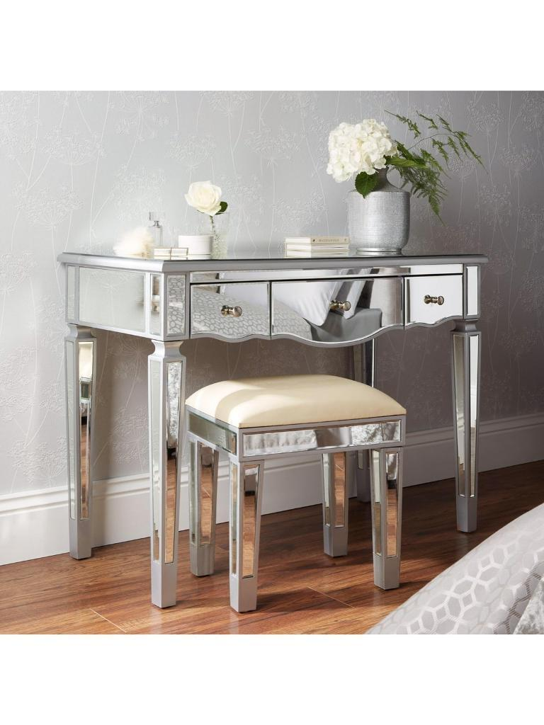 Brand new Mirage Mirrored dressing table and stool set