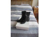 Brand New LK Bennett Black Leather Ankle Boots - UK Size 3.5