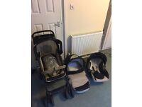 Hauck travel system; Baby Pram Stroller Pushchair Car Seat