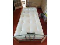 Single Metal Bed Frame with 1500 Pocket Sprung Mattress ONLY 6 MONTHS OLD LIKE NEW!