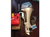 Honda Outboard 8hp Long Shaft Tiller BRAND NEW