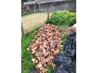 Bricks/gold gravel/copping and earth free to collect