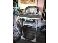 Joie mimszy foldable high chair grey