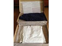 Size 16 Bravissimo/Pepperberry super curvy Blue blouse and white short sleeve shirt NWT
