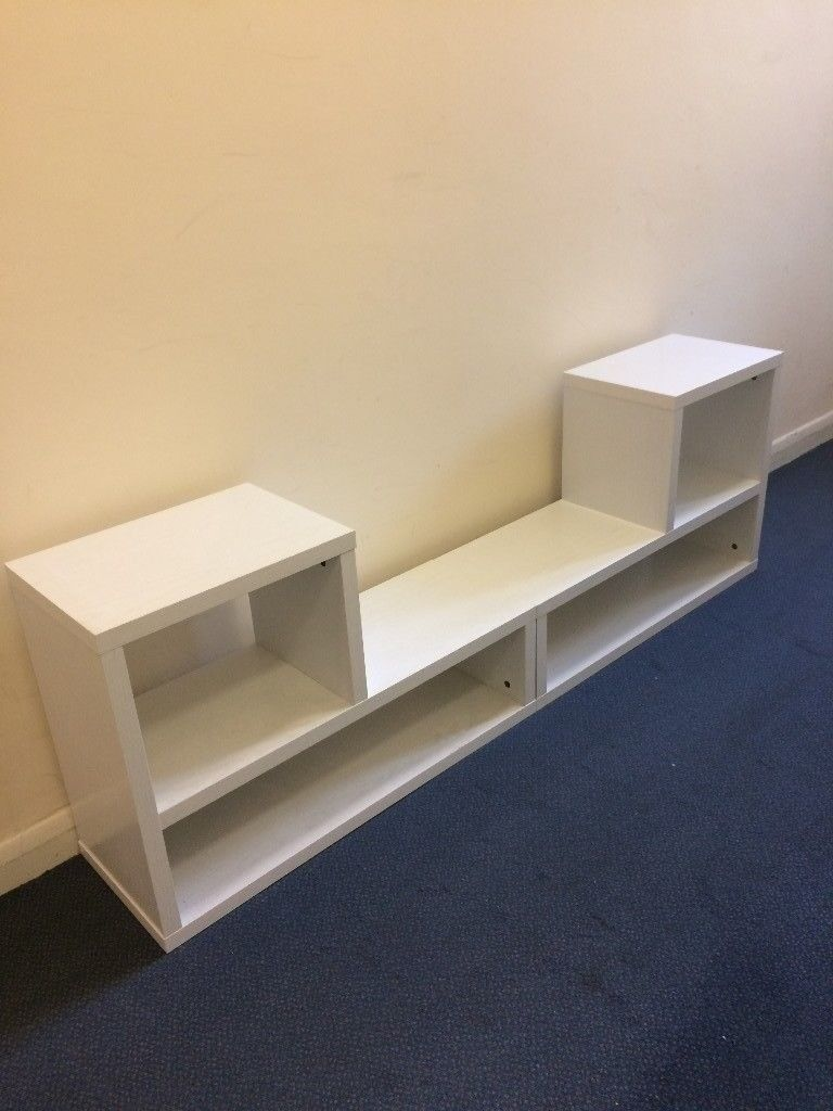 Ikea Tv Stand Shelving Unit X2 White Discontinued