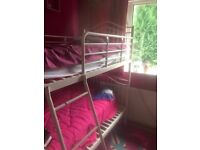 White bunk beds good condition