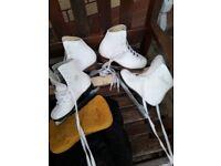 Girls white ice skates