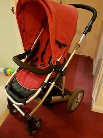 Britax Push Chair / Buggy with Cosy Toes and Rain Cover
