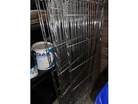 Ikea Metal Chrome Shelving 180cm high