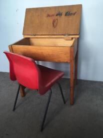 Mid 60's school desk and chair