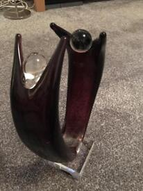 Solid glass sculpture