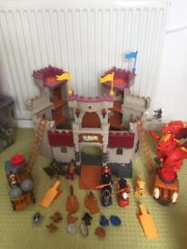 Imaginext castle and accessories