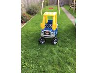 Little tikes blue truck cosey coupe