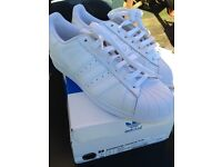 Size 7 white adidas trainers