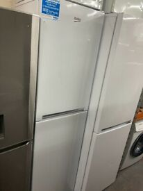 TALL WHITE BEKO FRIDGE FREEZER GRADED NOT USED (55CM)