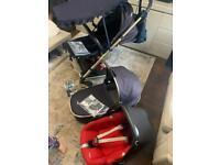 Mamas & Papas Pram Carry Cot & Car Seat Reduced