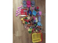 Kids play kitchen with accessories