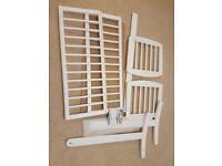Baby swinging crib - white