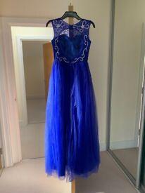 Dark royal blue prom dress for sale!