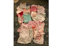 Baby girl newborn to 1 month clothes bundle 7lb to 9lb