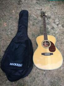 Crafter T035/N Acoustic Guitar & Case - Excellent Condition
