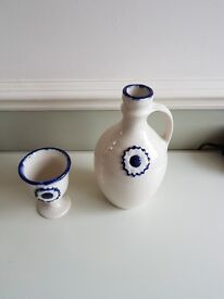 Ceramic carafe and wine set