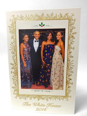 2016 Obama CHRISTMAS White House SEALED HOLIDAY CARD Unmailed Unposted POTUS