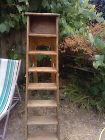 Old early 1900s pine step ladder