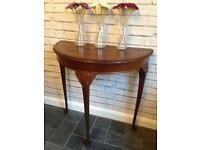 Half moon table, console table. Upcycle project