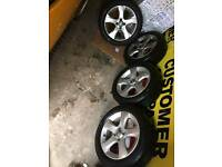 Vauxhall Corsa D alloys WITH tyres 16 inch