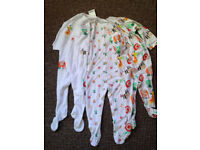 Next set of 3 Babysuits with animals theme all over them (Unisex) 12-18months BNWT
