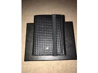 Men's Leather Wallet in Black with Elastic Band,New in Box,Unwanted Gift