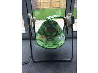 Baby's rainforest swing chair