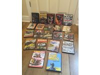 Selection of dvds for action and car motorbike fans