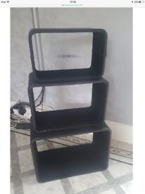 3 X Storage cube shelves unit faux leather