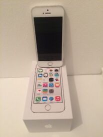 Silver iPhone 5s with original packaging and in very good condition