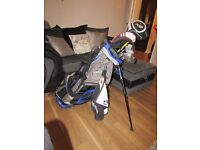 Golf club set inc./taylormade/cleaveland and sun mountain stand Bag
