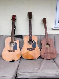 Fender, Cheetah and Garanti guitars